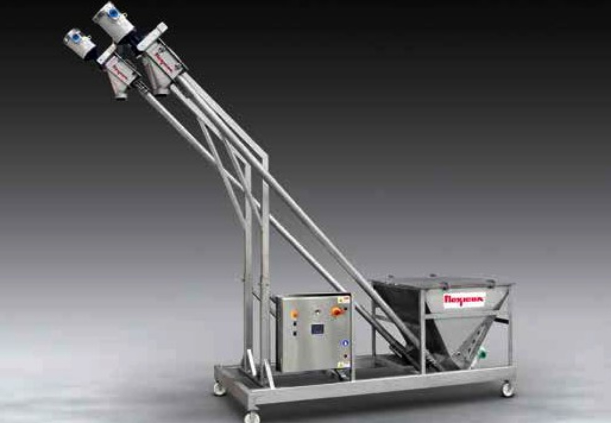 Flexicon Twin Bev-Con Flexible Screw Conveyor