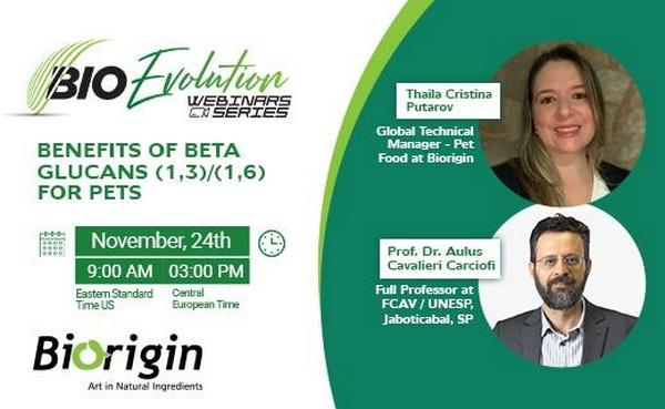 Biorigin Promotes a Webinar on the Benefits of Beta-glucans for Pets